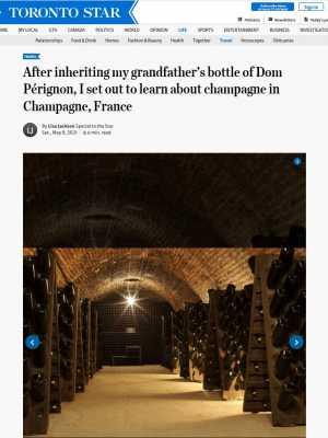 My Grandfather's Bottle of Dom Pérignon